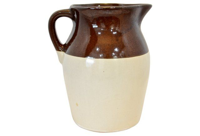 Two-Tone Rustic Pitcher