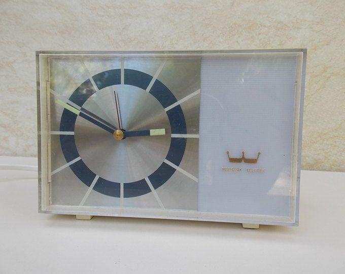 Ordinaire Vintage Clock, Table Clock Westclox Clock, Made In Scotland, White Clock,  Electric
