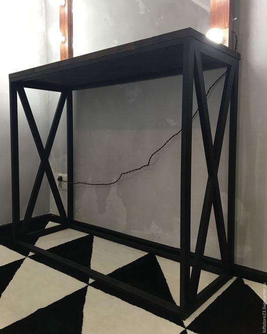 Мебель ручной работы. Стол GAMBIT темная столешница. 24_7MAGAZIN. Интернет-магазин Ярмарка Мастеров. Стол, loft мебель, сосна