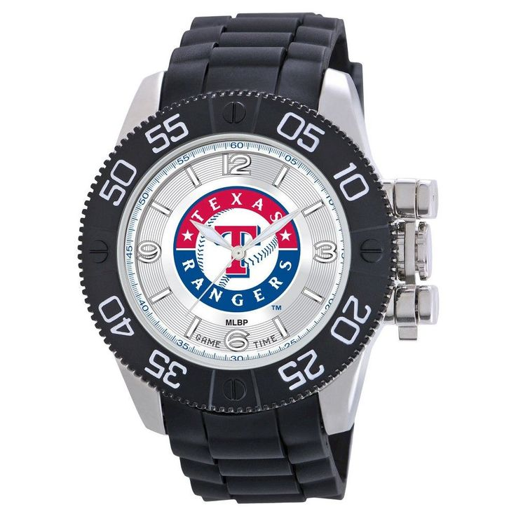 Men's MLB Game Time Texas Rangers Beast Series Watch - Black