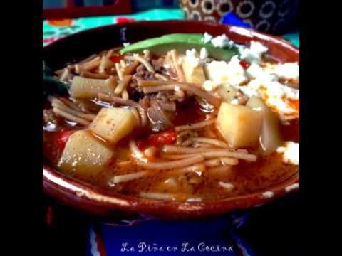 Sopa de Fideo con Carne y Papas (Pasta and Beef Soup)