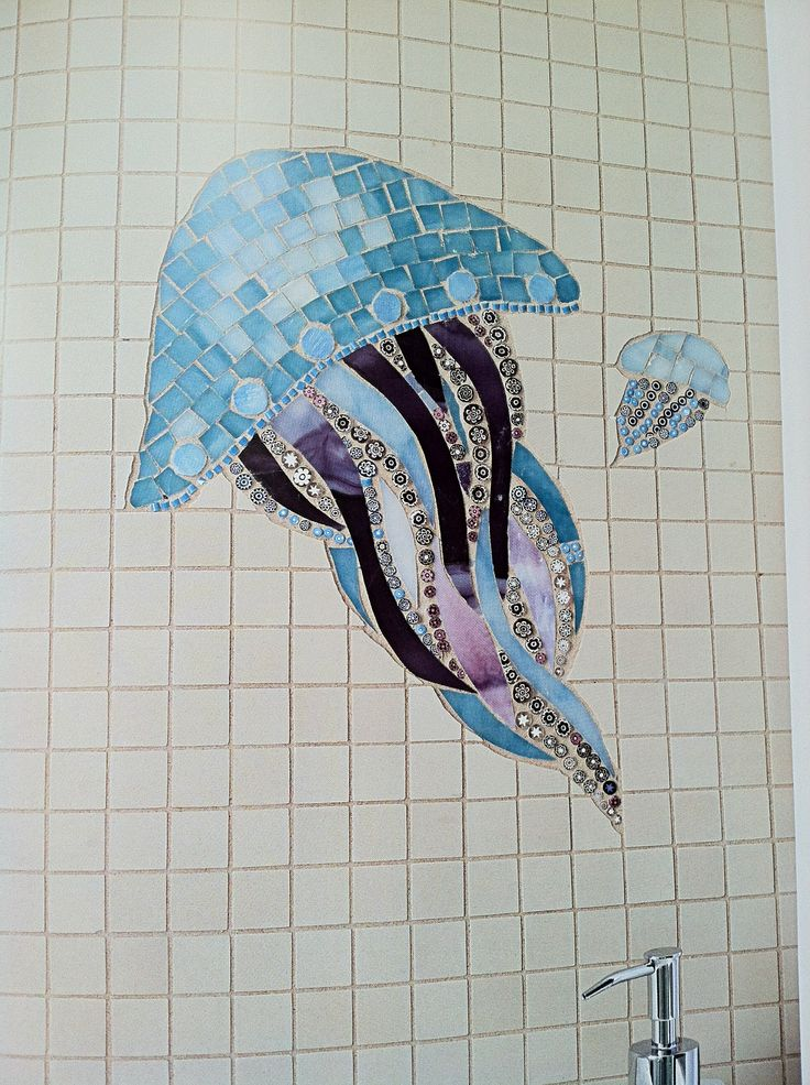 Jellyfish Mosaic Love It Glass Mosaic Tiles Mosaic