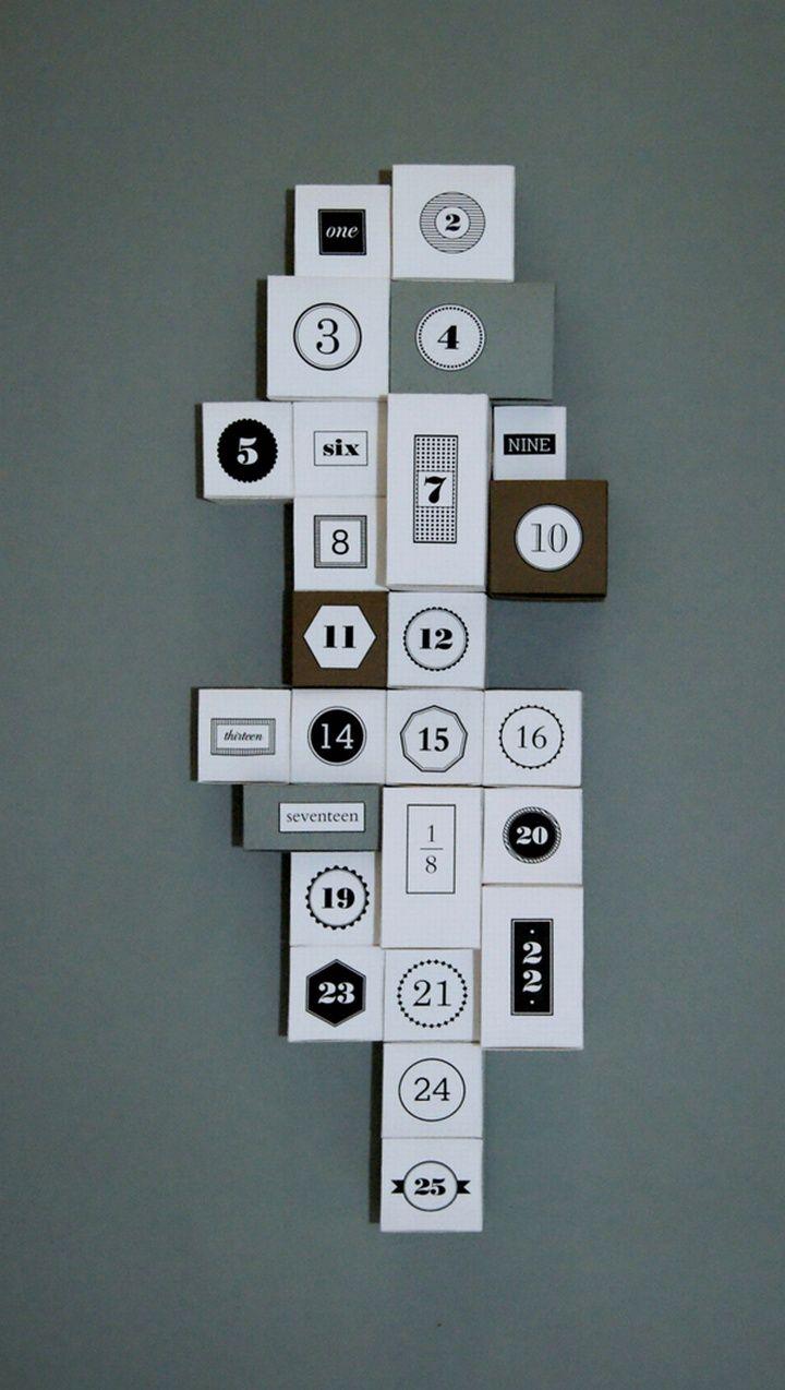 advent calendars sew happy 9 10 templates numbers xmas printables 1 ...