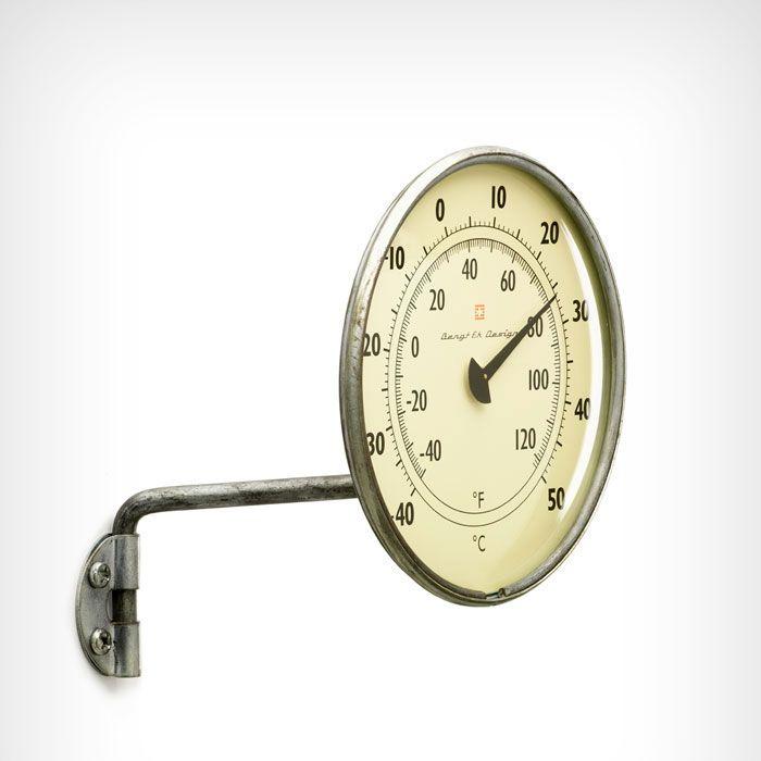 :: Thermomètre de fenêtre, -40 - +50 C° Zinc, Bengt Ek Design ::