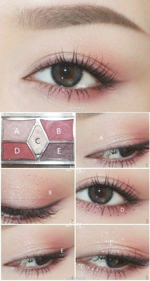 Korea Make-up-Informationen; Wenn Sie grüne oder rötlich braune Augen haben, finden Sie die Farbe