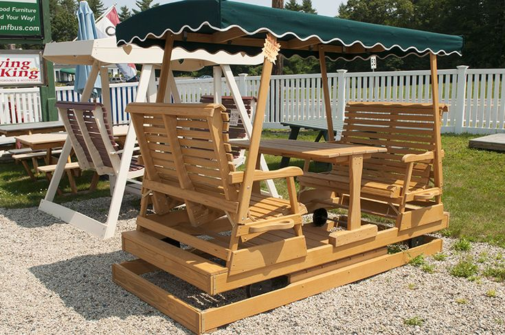 Garden glider plans pt keystone glider with table and for Woodworking plans porch swing