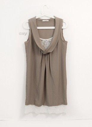 Kup mój przedmiot na #vintedpl http://www.vinted.pl/damska-odziez/krotkie-sukienki/20789944-kakaowa-elegancka-luzna-sukienka-z-koronka