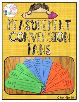 Measurement Conversion Fans freebie!
