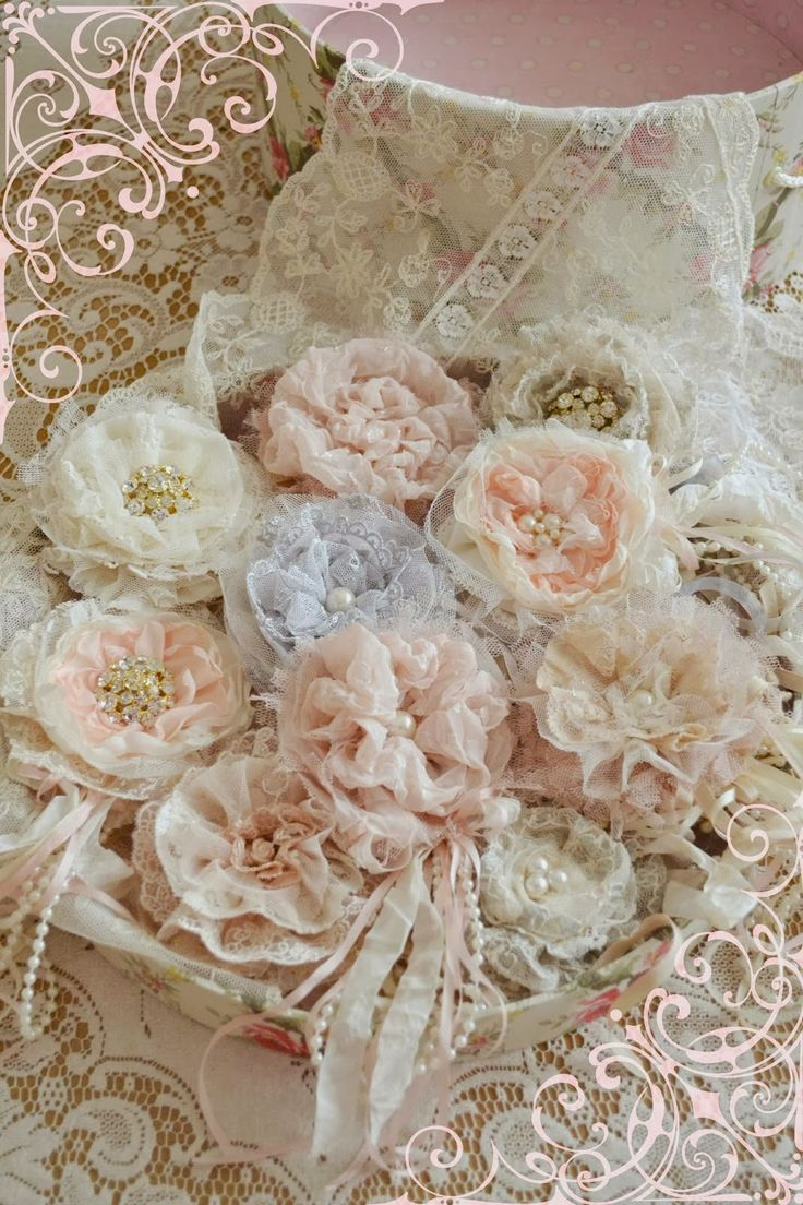 17 best images about fabric and lace collage books - What is shabby chic ...
