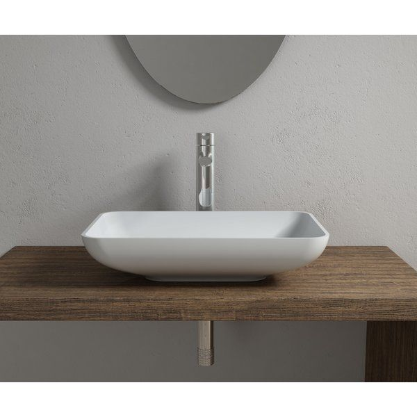 Stone Rectangular Vessel Bathroom Sink Master bath Pinterest