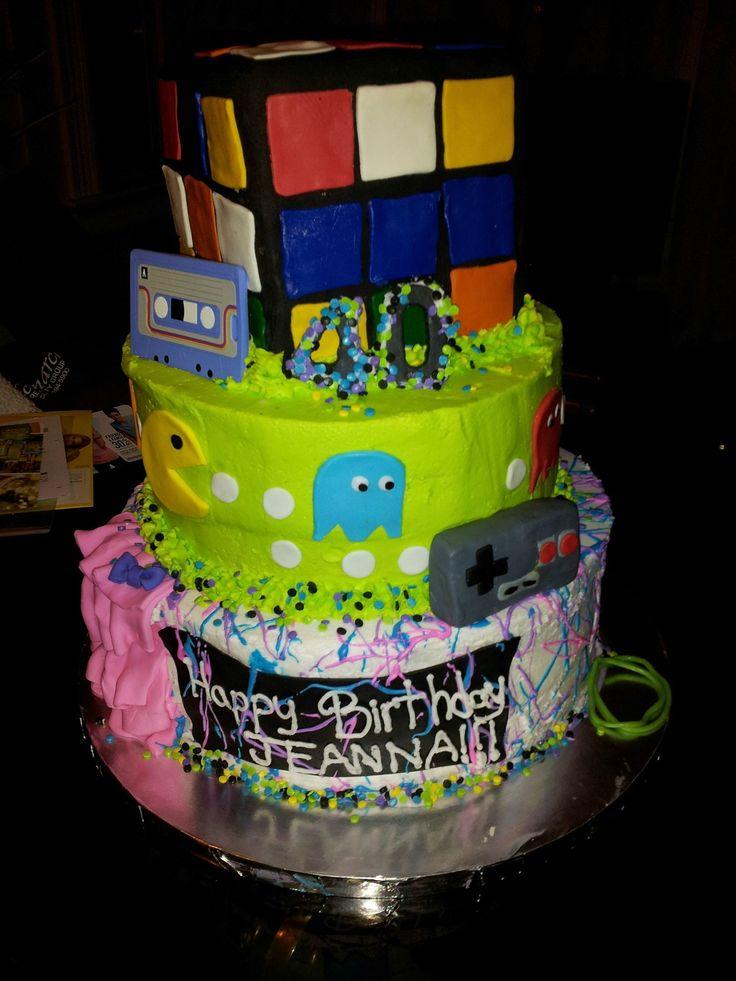 80's themed Birthday cake