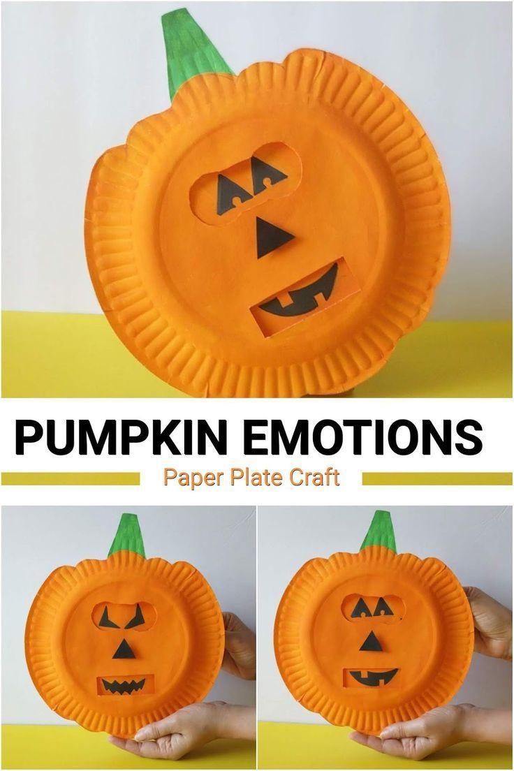 Pumpkin Emotions Halloween Craft For Kids Halloween Crafts For Kids Preschool Crafts Kindergarten Crafts
