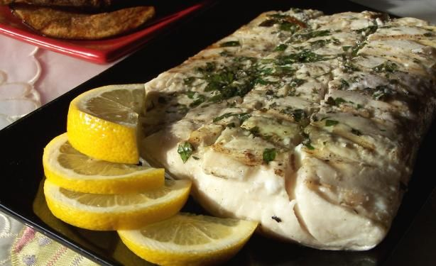 Grilled halibut simply delicious recipe grilled for Halibut fish recipes