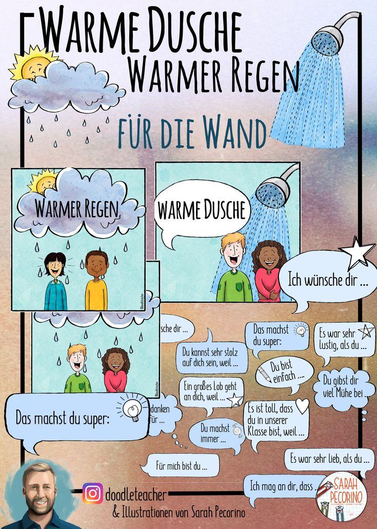 Warme Dusche / Warmer Regen - Poster und Wandschmuck