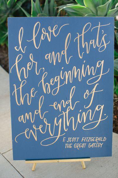 Blau + Gold + Kalligraphie = große Liebe
