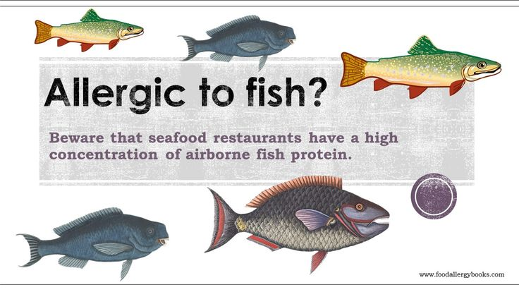 Severe allergy to fish or shell fish beware that seafood for Allergic reaction to fish
