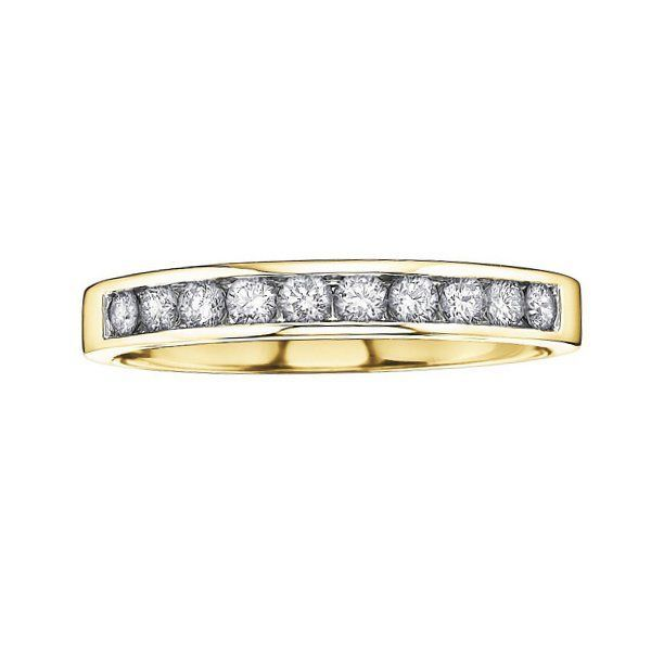 Buy Yellow Gold Diamond Band Online In Canada
