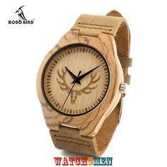 Знакомьтесь с новыми деревянными наручными часами от ТМ Bobo Bird Deer W05. Это трендовые в этом сезоне деревянные часы ручной работы изготовленные из натурального бамбука и с ремешком из натуральной кожи. Да, часы действительно сделаны из бамбука, как корпус часов, так и задняя крышка. Циферблат часов также имеет древесную фактуру с нанесением скандинавского орнамента в виде головы оленя, который также дублируется на задней крышке этих наручных часов.