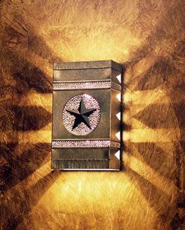 Beautiful rustic Texas wall light!