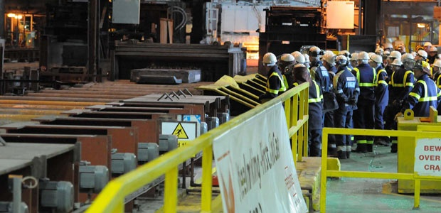 The first slab of steel from the relit Redcar furnace-beautiful to see!