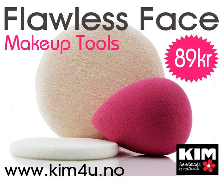 KIM Cosmetics Flawless Face Tools - NEW!  www.kim4u.no