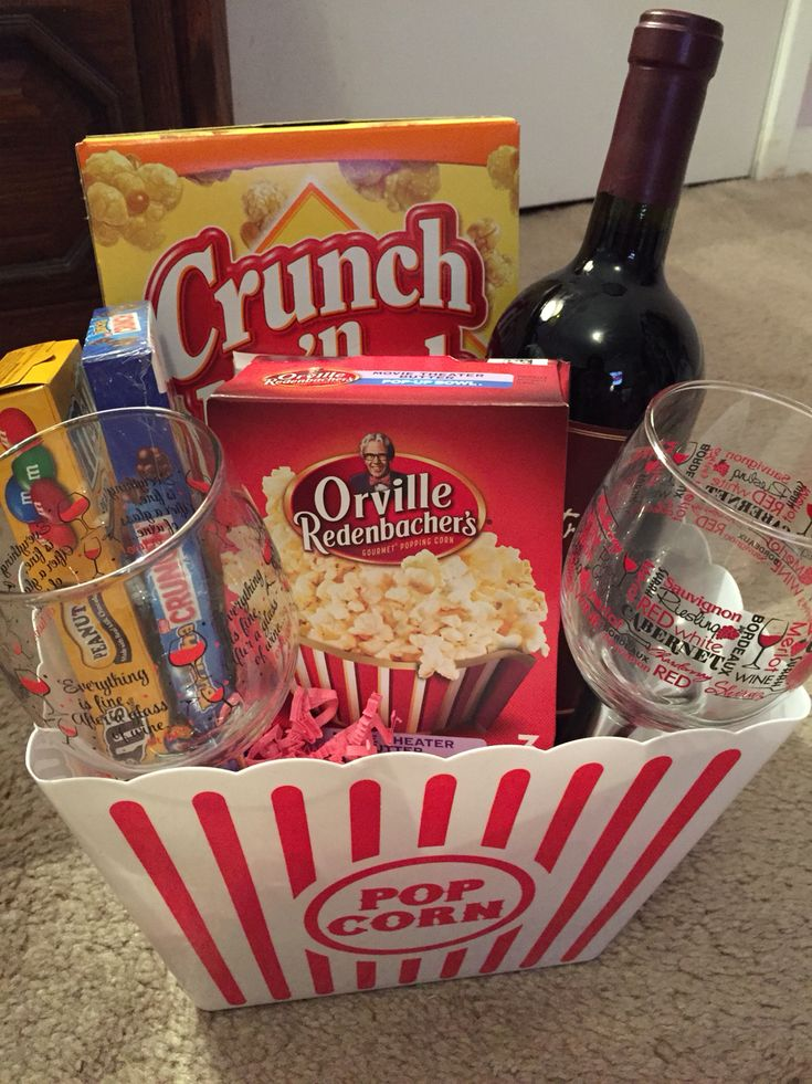 Movie night basket Gift basket ideas Christmas gift too