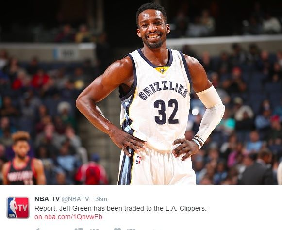 Jeff Green Re-United With Doc Rivers, Stephenson Sent to Memphis - http://www.morningnewsusa.com/jeff-green-re-united-doc-rivers-stephenson-sent-memphis-2358748.html