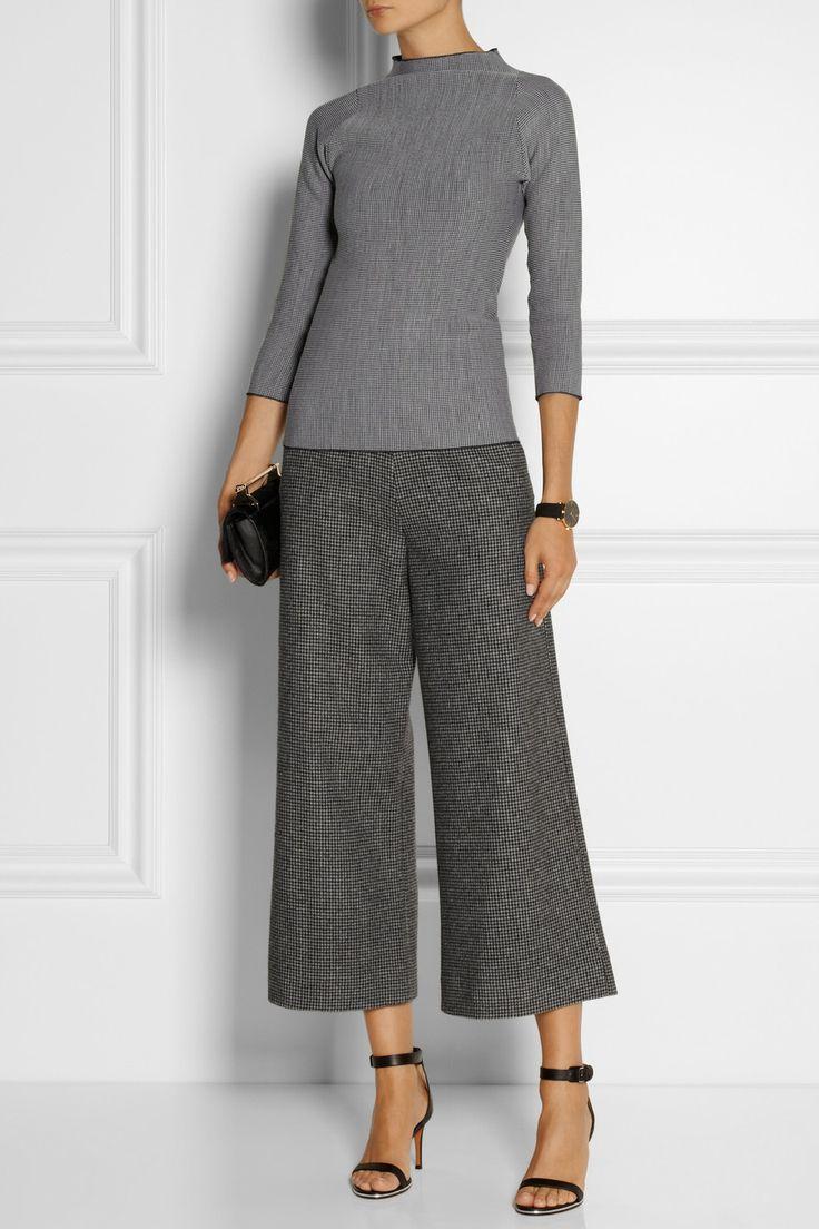 Isa Arfen | Houndstooth wool culottes | NET-A-PORTER.COM