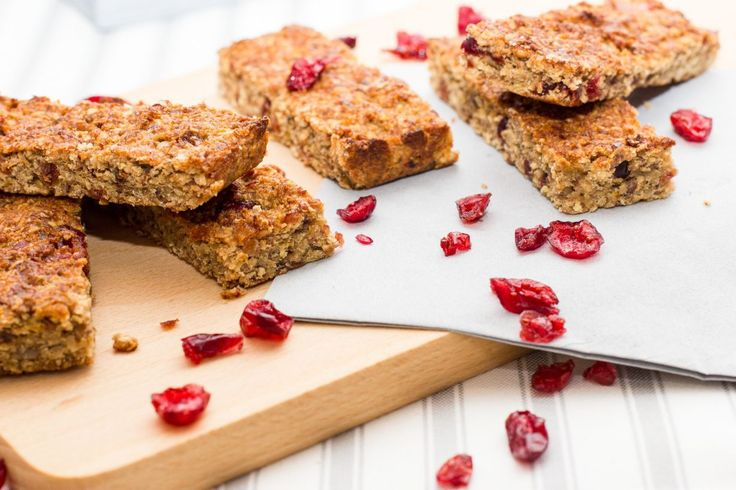 Havermoutrepen met cranberry's - Oatbars with cranberries