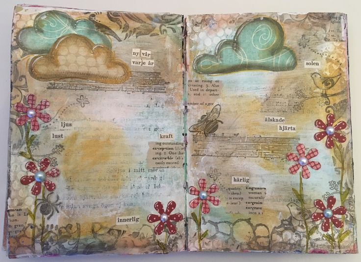 My very first art journal page