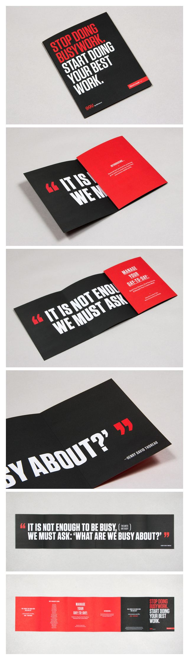 99U Book :: Fold-out Flyer/Poster