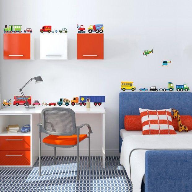 New Wir zeigen Ihnen Ideen f r phantasievolle Wandgestaltung die Ihrem kleinen Jungen sicherlich gefallen wird u diese Designs f r Kinderzimmer Wandtattoo