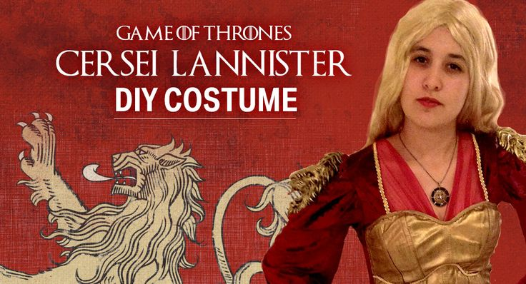 DIY Game of Thrones Cersei Lannister Costume for Halloween.