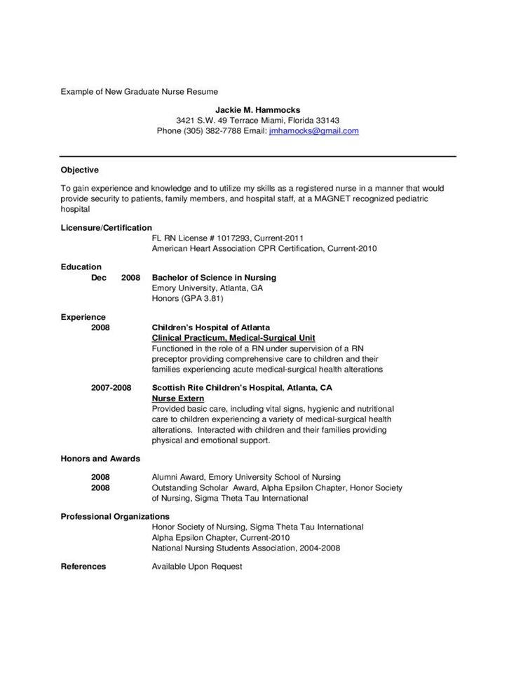 New Grad Nurse Resume New Grad Nursing Resume Template
