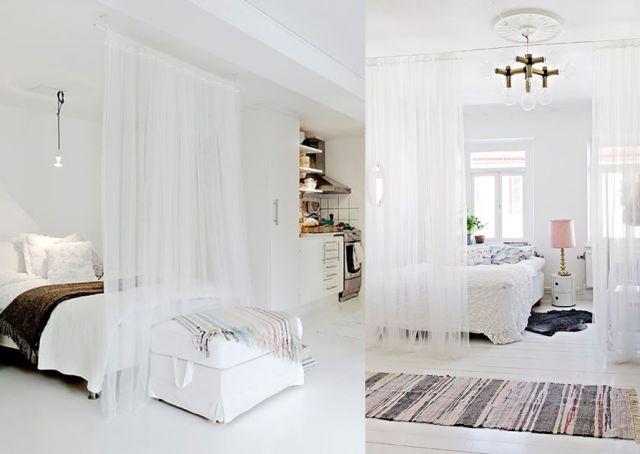 Meer dan 1000 idee n over dans slaapkamer op pinterest for Separation chambre salon