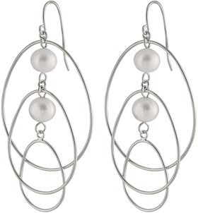 Splendid Pearls Chandelier Double Pearl Earrings.