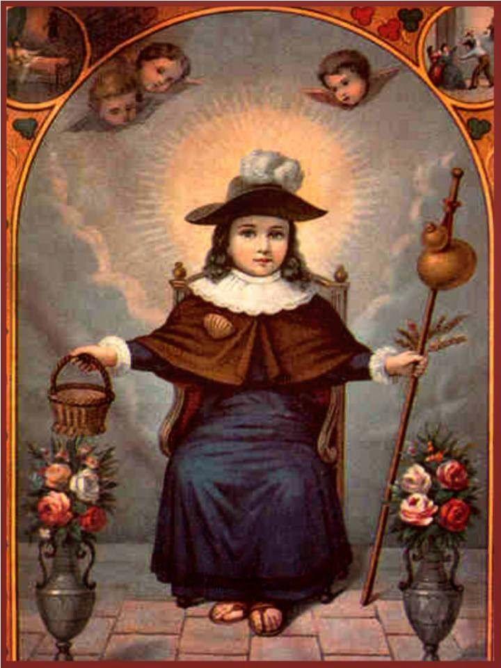 ¡Oh milagroso y bendito!,   oh dulcísimo Niño de Atocha,    unigénito del Eterno Padre,   Salvador del  mundo,   Cordero inmaculado, ...