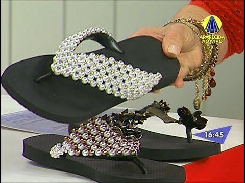 Como fazer um bordado com pérolas e cristais - Videoaula Sr. Chinelo - YouTube