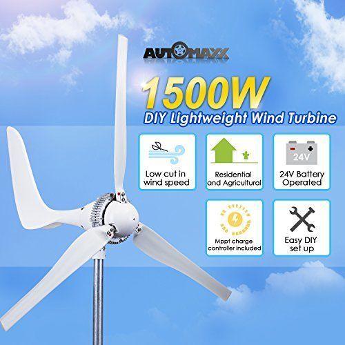 Wind Turbine Generator kit 1500w 24v   MPPT charge