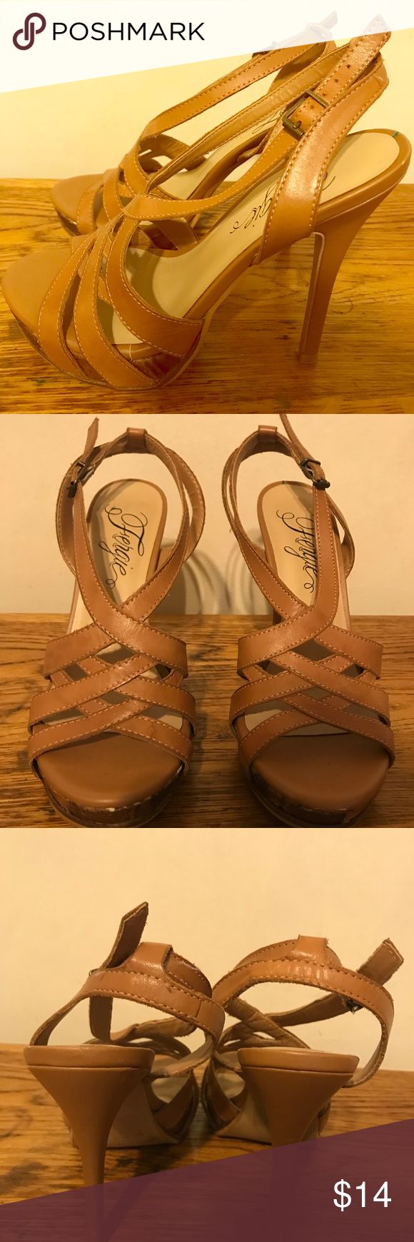 Sz. 6 Heeled Sandals (Fergie) Sz.6 brown heeled sandals - Made by Fergie Fergie Shoes Sandals