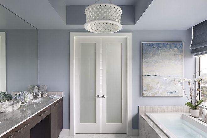 Sherwin Williams Daphne Blue Bathroom Paint Color Sherwin Williams Daphne Sherwin Williams Daphne Sh Condo Interior Design Contemporary Bathroom Condo Interior