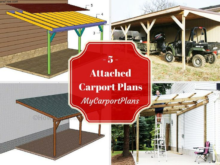 78 images about wooden carport plans on pinterest for Attached carport plans free