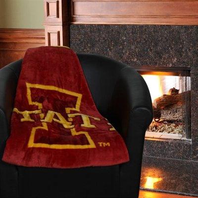 Iowa State Cyclones 50'' x 60'' Team Spirit Royal Plush Blanket Throw - Cardinal/Gold