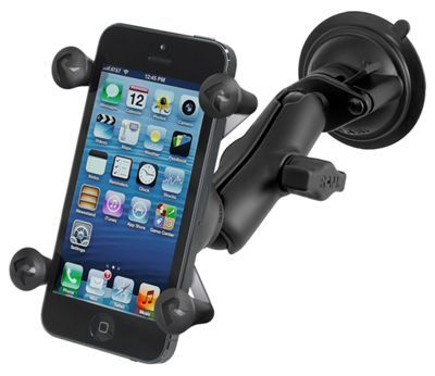 RAM Mounts Twist Lock Suction Cup Mount with X-Grip Cell Phone Holder