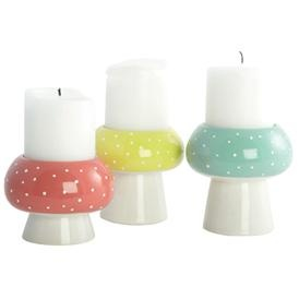 Candlestick - Mushroom - Set / 3 pieces.