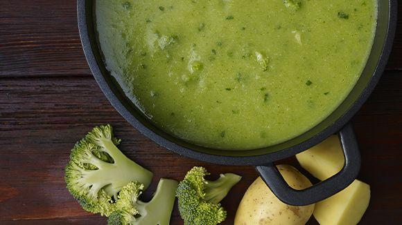 Soupe au brocoli et aux pommes de terre