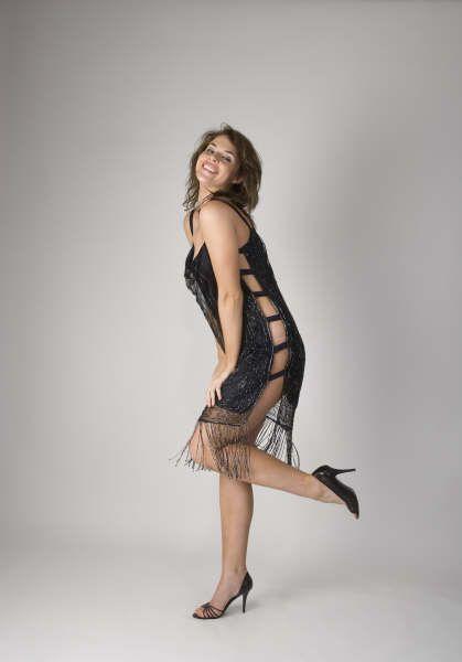 Black beaded party dress http://www.arcarocouture.com.au/