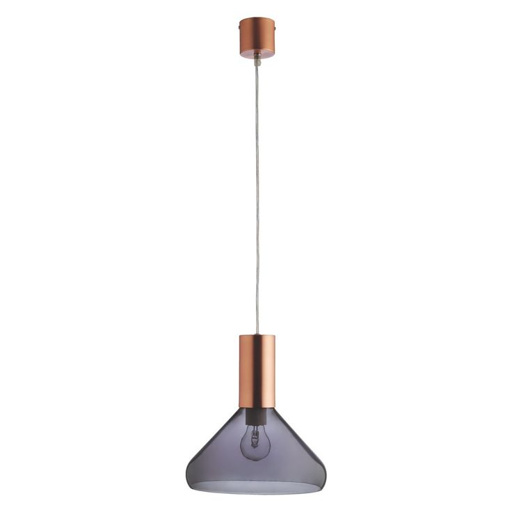 MARLOWE Smoked glass and copper ceiling light | Buy now at Habitat UK