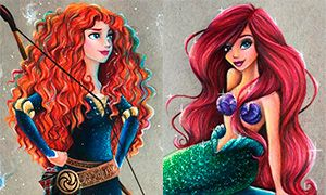 Неужели рисунки могут быть такими красивыми: Принцессы от MaxxStephen