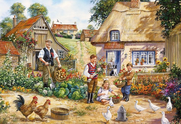Gibsons The Kitchen Garden Jigsaw Puzzles (2x500 Pieces)